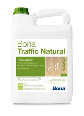 BONA TRAFFIC NATURAL -vrchní lak 4,95l